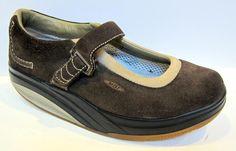 MBT Women's 'Kaya' Brown Nubuck Leather Mary Jane Fitness Shoe Size 39/US 8.5 #MBT #Walking