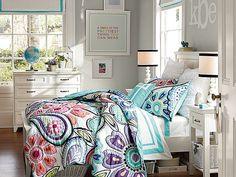 I love the PBteen Hampton Kennedy Paisley Bedroom on pbteen.com