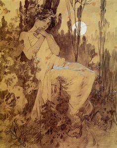 studyincontrasts:  Alphonse Mucha, Rotten