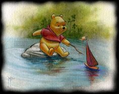 watercolor winnie the pooh for nursery