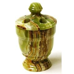 Nature Home Decor Toothbrush Holder Finish: Classic Green Onyx Marble