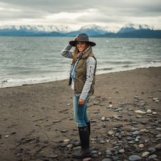 @juliahengel knocking it out of the park with her outfit in Homer, Alaska. #homerun