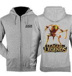 Fiddlesticks zip up hoodie for men League of Legends fleece sweatshirt XXXL