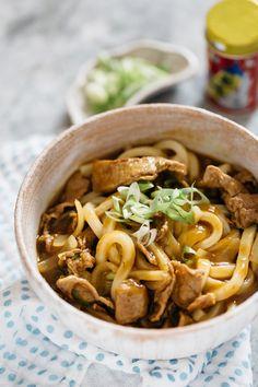 Easy Japanese Recipes, Asian Recipes, Gourmet Recipes, Cooking Recipes, Ethnic Recipes, Japanese Udon, Japanese Dishes, Japanese Noodles, Japanese Meals