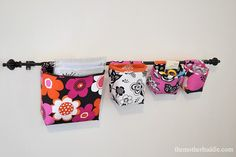 Hanging fabric baskets or pockets tutorial