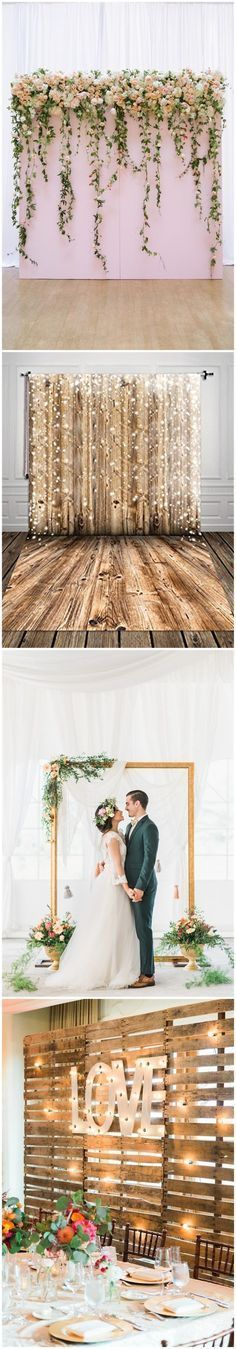 Rustic Weddings 30 Unique and Breathtaking Wedding Backdrop Ideas ? More: (Diy Photo Booth) Trendy Wedding, Perfect Wedding, Dream Wedding, Wedding Day, Wedding Table, Wedding Unique, Wedding Photos, Wedding Parties, Wedding Photo Booths