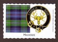 Mackenzie clan tartan and motto - Help the King, although it also uses the motto Shine not Burn or Luceo non Uro.