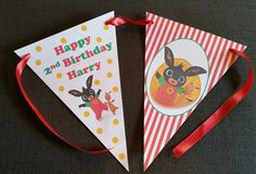 Personalised BING Party Bunting Banner -Each Banner 3m - MULTI-BUY OPTIONS