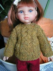 Ravelry: Pull irlandais ou robe pour poupée pattern by Jeanne-Marie Labracherie