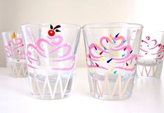 Hey, I found this really awesome Etsy listing at https://www.etsy.com/listing/101979347/you-pick-2-birthday-cupcake-shot-glasses