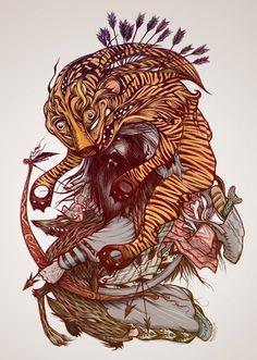 """""""Gluttony"""" illustration by David 'HABBENINK'"""