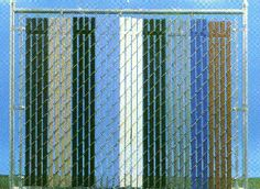 Pexco 6 In X 5 Ft 10 In White Chain Link Fence Privacy