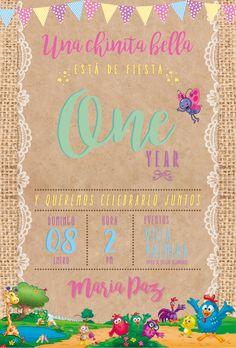 Invitación de Cumpleaños de María Paz #gallinapintadita