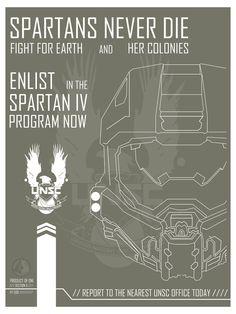 Halo Spartan IV Recruitment poster by Open-Circle.deviantart.com on @deviantART