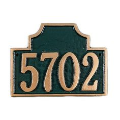 Montague Metal Products Petite Beckford Address Plaque Finish: Brick Red / Silver, Mounting: Lawn
