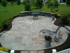 How To Find Backyard Porch Ideas On A Budget Patio Makeover Outdoor Spaces. Upgrading your backyard with a decorative concrete patio is likewise an in. Stone Patio Designs, Design Patio, Paver Designs, Backyard Patio Designs, Backyard Landscaping, Backyard Ideas, Landscaping Ideas, Exterior Design, Garden Design