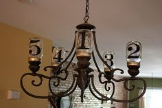 Pretty cool way to refurbish an old chandelier