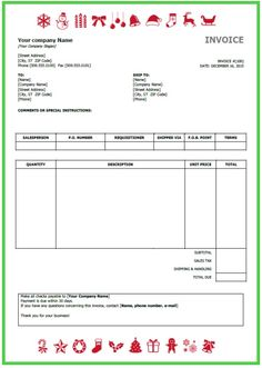 Example Of An Invoice Template       Dog Care
