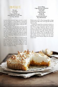 Lemon Meringue Pie via Call me Cupcake #recipe