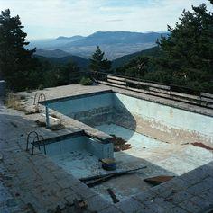 Empty swimming pool...