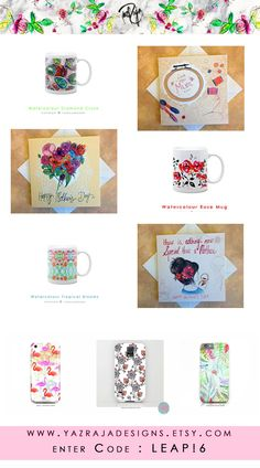 LEAP YEAR SALE - 15% OFF!  So we are giving you 15% off our entire range on #Etsy www.yazrajadesigns.etsy.com Enter code LEAP16 at checkout! Enjoy and get your mum/grandma/mother in law something lovely and handmade heart emoticon #phonescases #mugs #mothersday #greetingscards #leapyear #leap16 #discountcode #isellonetsy #etsyseller #handmadeuk #supportlocalartists