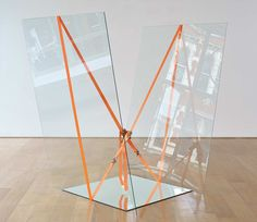 exasperated-viewer-on-air:  Jose Dávila- Joint Forces, 2014 glass, concrete, strap 150 x 168 x 26cm