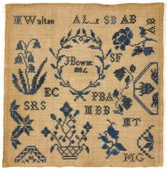 Sampler made by unknown, American, Quaker. Date: 1804. Plain weave linen with embroidery in cross stitch. Philadelphia Museum of Art.