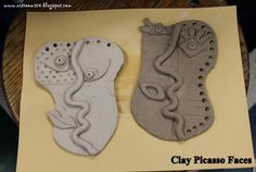 A great example of Clay Picasso Faces by the creative art teacher Mrs Impey! Link to activity here - http://artroom104.blogspot.com.au/2013/03/yam-3rd-grade-picasso.html