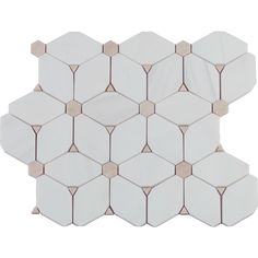 MS International Cecily 11 in. x 13 in. x 10 mm Polished Marble Mesh-Mounted Mosaic Tile (9.48 sq. ft. / case), White
