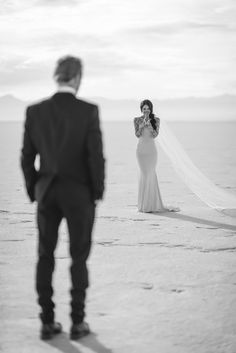 Love the idea of capturing both bride and groom at first look