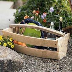 Wine Barrel Basket