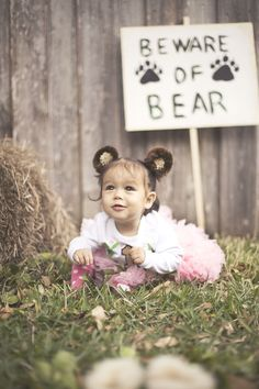 beware the bear! bear forest or woodland creature themed first birthday! how to photograph toddlers!