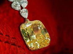This 89 carat yellow diamond drop was gifted to Nicholas I by the Shah of Persia. Via www.irhal.com/.