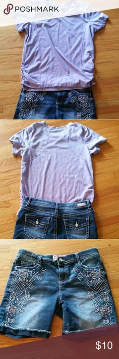 Little girls Shorts and tshirt  GREAT CONDITION BUNDLE Short size 16 regular / T-shirt XL 14/16 Danskin Now Shirts & Tops Tees - Short Sleeve