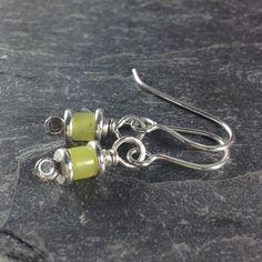 Reels - silver and bright jade earrings £15.00