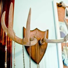 Deer Antler Necklace Rack