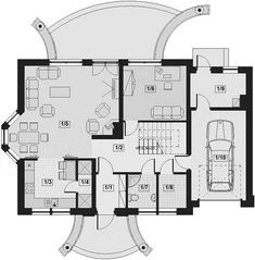 This four bedroom classic house design is an interesting proposition for people with medium-wide plot. The house has a typical shape, which greatly facilitates the construction process. House Construction Plan, Construction Process, Classic House Design, Bedroom Classic, Floor Plans, Decor, Houses, Projects, Decoration