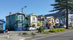 Historic buildings in Napier promenade