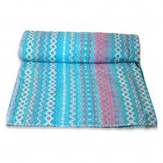 Abstract Patterns Suzani Printed Kantha Stitched Hand Crafted Gudari / Kantha Quilts http://radhikatextile.com/home-furnishing/bed-covers/old-kantha-vintage-bed-covers.html?p=2