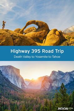 Take this epic road trip route and drive Highway 395 in California from Death Valley to Tahoe (and hit up Yosemite along the way) all in a single week!  #california #nationalparks #roadtrip