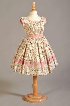 Child's cotton dress, probably American, 1860s, KSUM 1995.17.1642