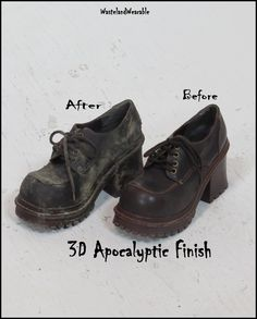 Post Apocalyptic BOOTIES faux LEATHER Apocalyptic Boots Womens Size 8.5 Fallout Leather Boots Dystopian Wasteland Boots by WastelandWearable by WastelandWearable on Etsy