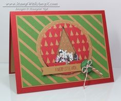 Festival of Trees Shaker Card by amyk3868 - Cards and Paper Crafts at Splitcoaststampers
