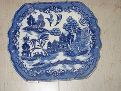 vintage Moriyama, made in Japan Blue Willow China, Blue And White China, Love Blue, Blue Dishes, White Dishes, Blue Chinaware, Blue Dinnerware, Willow Pattern, White Stuff
