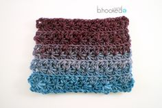 Learn how to crochet the crochet Star Stitch with this free pattern and video tutorial from B.hooked Crochet.