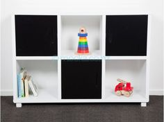 Mocka Essentials 6 Cube - functional and funky storage unit. Simple design will fit any decor. 6 compartments, 3 with doors. MDF and pine construction Cube Storage Unit, Cube Shelves, Cubby Storage, Storage Sets, Kids Storage, Cupboard Storage, Bedroom Storage, Storage Cubes, Shelf