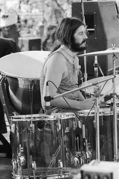 John Bonham of Led Zeppelin - Kezar Stadium, San Francisco, California. June 2, 1973