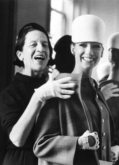 "the iconic fashion editor Diana Vreeland. Image from George Plimpton's film ""The Eye Has to Travel."" via Russh Magazine"