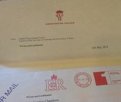 Thank you letter from Duke and Duchess of Cambridge for Prince George's gifts…