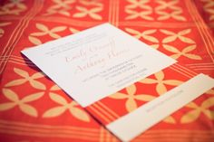African Inspired wedding invitation